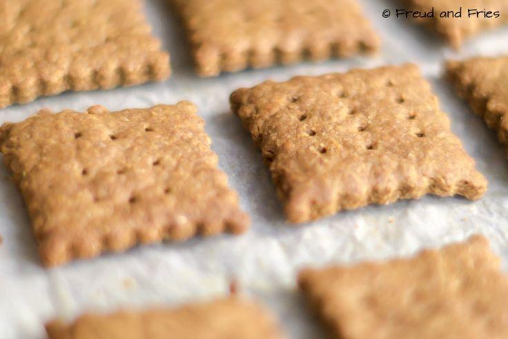 Gezonde honing-kaneel graham crackers
