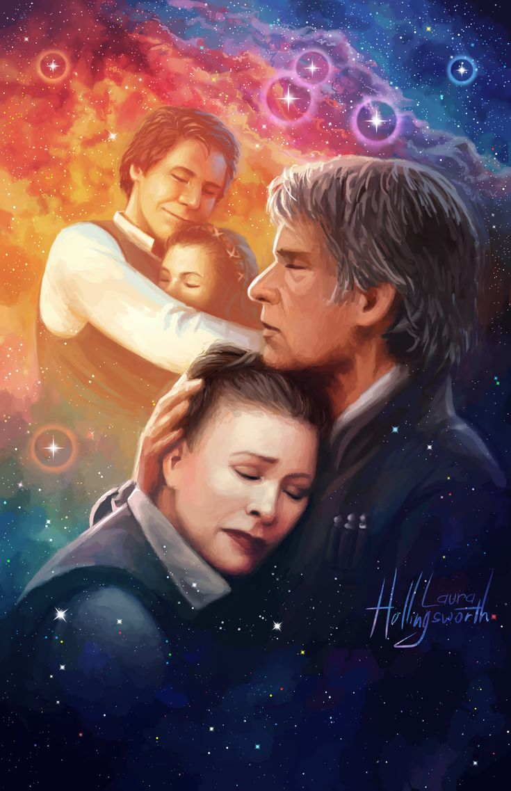 Star Wars: The Force Awakens - Leia and Han Solo by lostie815.deviantart.com on @DeviantArt