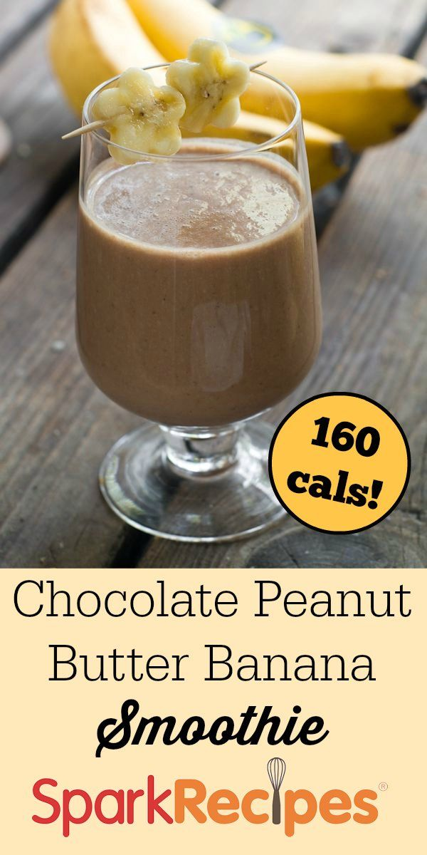 Chocolate Peanut Butter Banana Smoothie Recipe via @SparkPeople