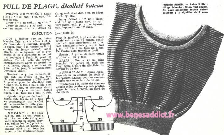 Gratuit 55 Patrons Tricot Crochet 1952 Free 55 Knitting Patterns