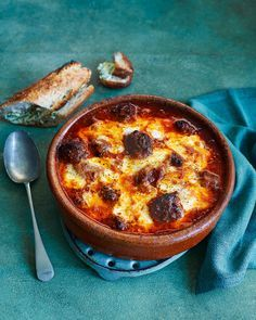 Flavour-packed meatballs, tangy tomato sauce and oodles of melted mozzarella. This recipe is crowd-pleasing comfort food at its absolute best.