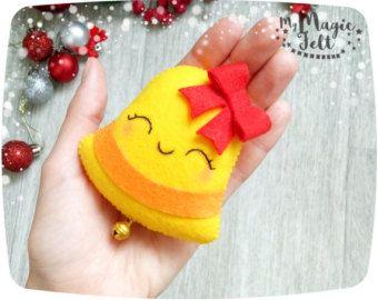 Pastel de ornamento de Navidad fieltro galleta de por MyMagicFelt