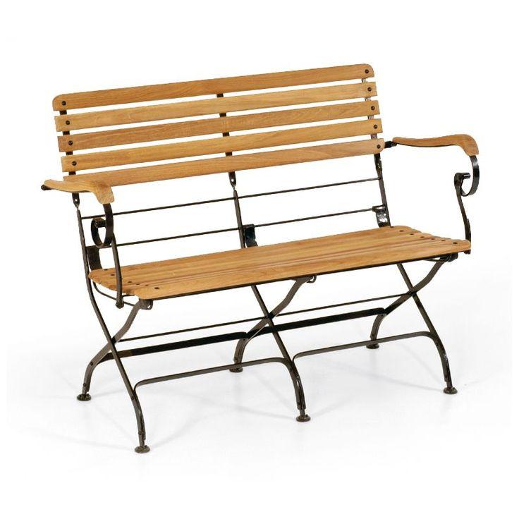 New Garten Klappbank Eisen Teakholz Sitzer Oxford Jetzt bestellen unter