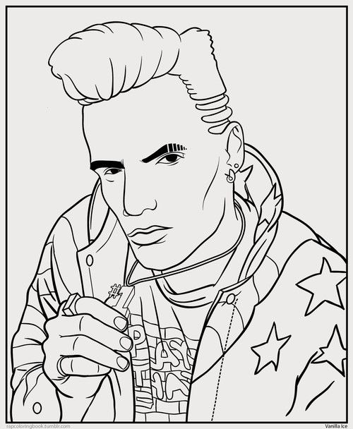 Rap artist coloring pages coloring page for Rapper coloring pages
