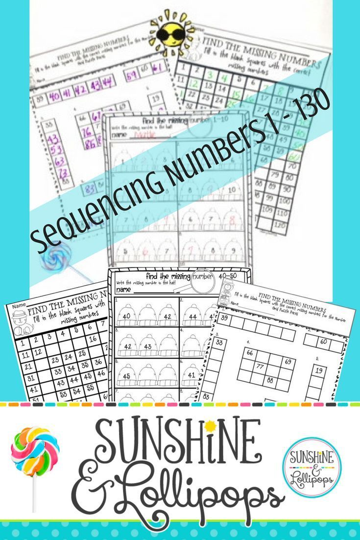 Number Sense Math: Sequencing Numbers 1-130 Printables Aligned with ...