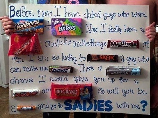 ways to ask boy to sadie hawkins - Google Search