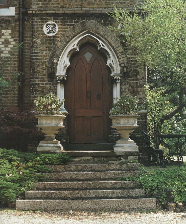 Victorian Literature: A Victorian House gothic wooden front door urns gardens front steps & 896 best images about Door Design on Pinterest Pezcame.Com