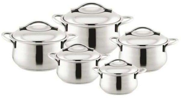 طقم حلل ستانلس ستيل 10 قطع بونيرا Sugar Bowl Set Bowl Set Decorative Jars