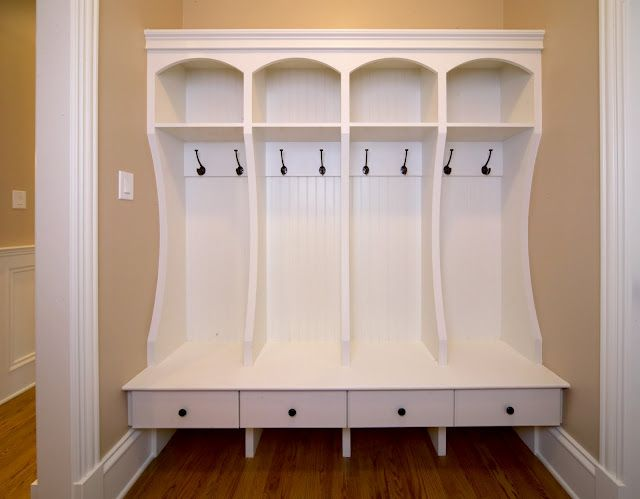Love this idea for the laundry room or a mud room. Wish I had the space to do this in my house.