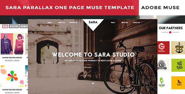 Sara Parallax One Page Muse Template is a finely crafted Muse theme, with a clean ultra-modern design for easy customization. Developed and decoded using MUSE CC 2014 the theme adds a real definition in telling your tale with style.
