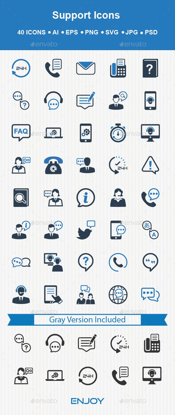 Support Icons - Download: http://graphicriver.net/item/support-icons/14440399?ref=ksioks