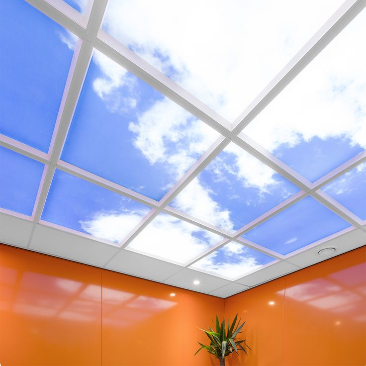 SG Spieringshoek | Schiedam Lumick Standard www.lumick.com  Interior Design - Healing Environment - Office Design - Healing Office  #skyceiling #skypanel #cloudceiling #wolkenplafond #fotoplafond