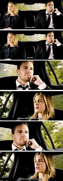 """""""You know what you have to do"""" - Pissed off Felicity and Oliver #Arrow ((Angst everywhere!! Who's gonna die??))"""