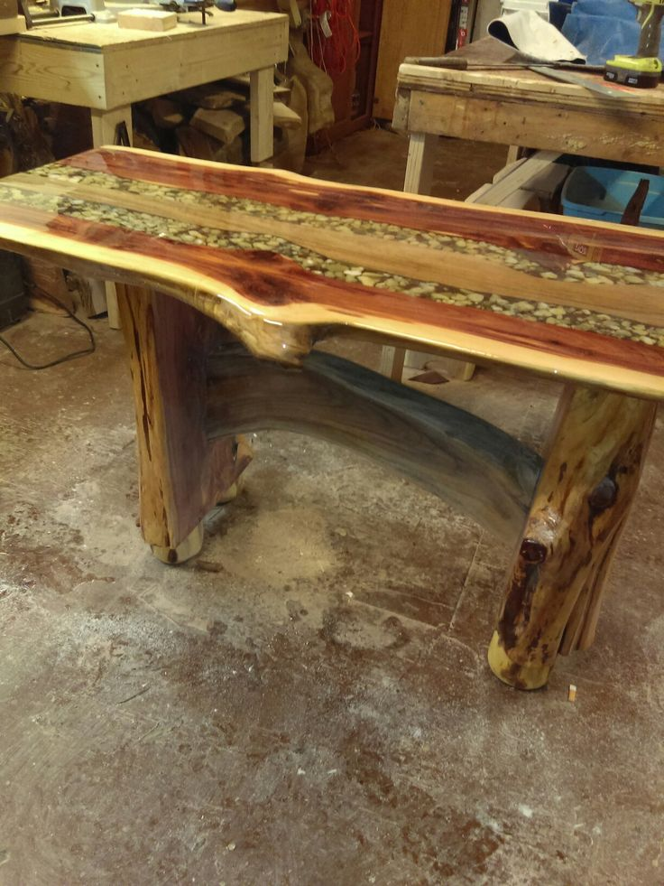 Red cedar and mesquite table
