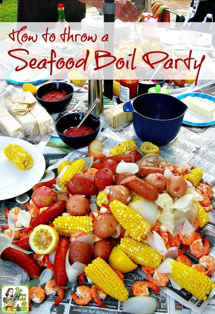 Tips on how to throw a seafood boil party, whether you love lobster, shrimp or want to do a traditional Cajun crawfish boil. Includes a Seafood Boil with Corn and Potatoes recipe that you can tweak to