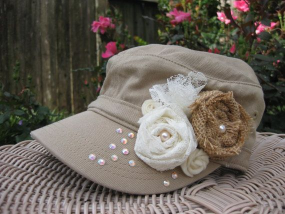 Military Cadet Hat Cadet Hat Military Hat by rosepetalpretties, $26.00