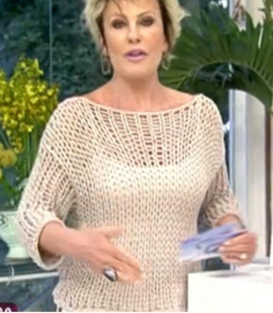 crochelinhasagulhas: Blusa de tricô da Ana Maria Braga