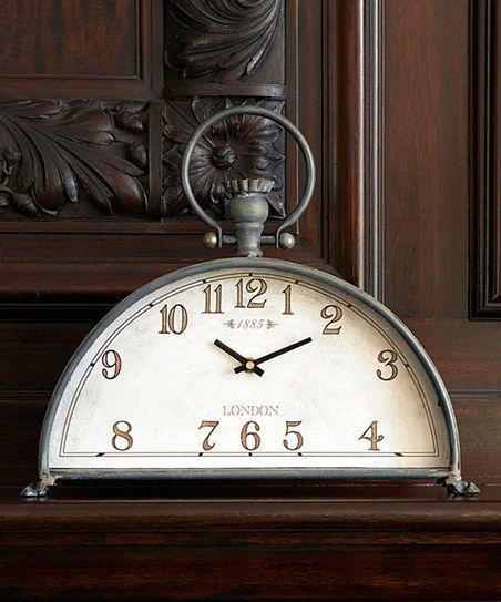 Gray Half-Circle Mantel Clock | zulily