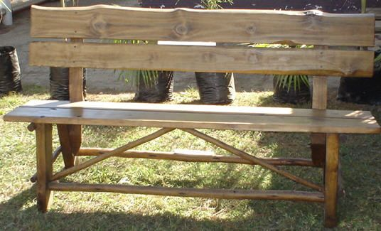 Garden Bench & Back Available in 1.2m, 1.4m & 1.8m