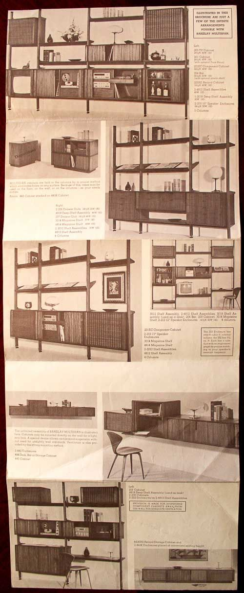 Barzilay Multispan Vertical Storage System -- another valuable Scandinavian Modern wall unit design - Retro Renovation