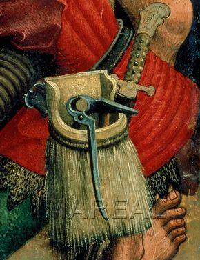 Kreuztragung Christi Kunstwerk: Temperamalerei-Holz ; Einrichtung sakral ; Flüg…