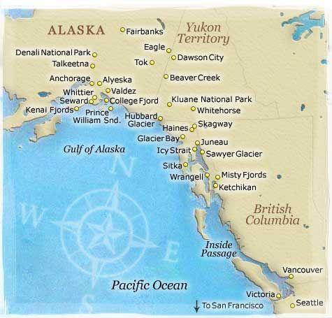 map of alaska highway and canada border