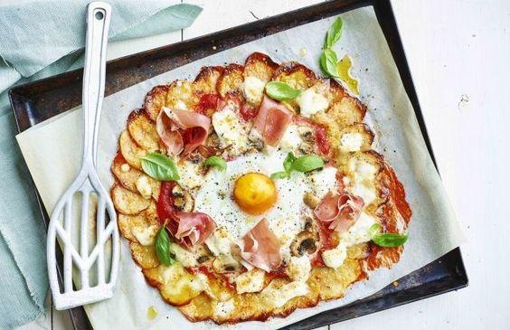 Aardappelpizza voor 1 persoon