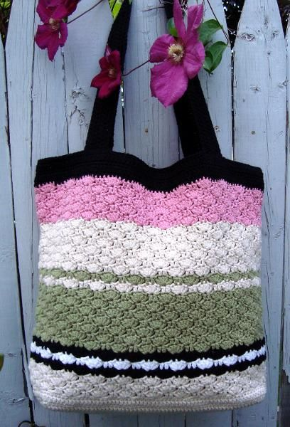 sweet pea tote bag - free pattern #crochet
