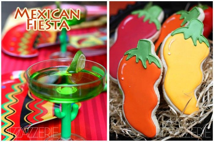 Used these same decorations for my daughters Mexican Fiesta Bridal Shower