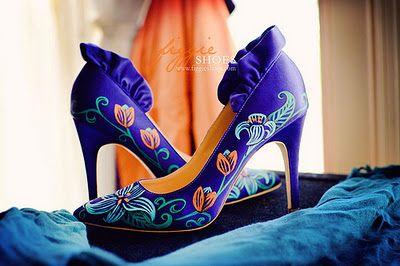 Pantofi pictati manual   Nunta cu stil