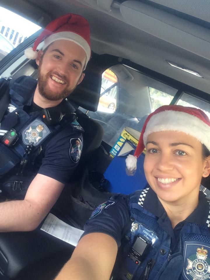 Constables Brough & Banks are busy spreading Christmas cheer in the Valley today.