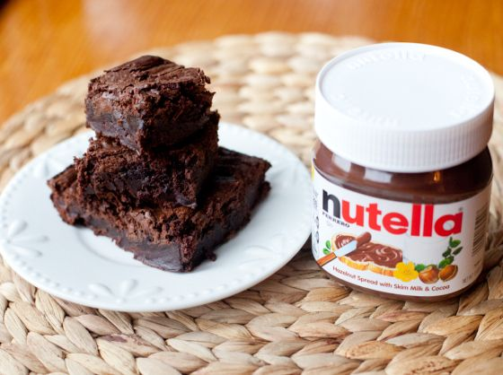 Nutella brownies from a box mix