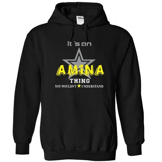 amina-the-awesome - #tshirt customizada #sweater for fall. TAKE IT => https://www.sunfrog.com/LifeStyle/amina-the-awesome-Black-59399500-Hoodie.html?68278