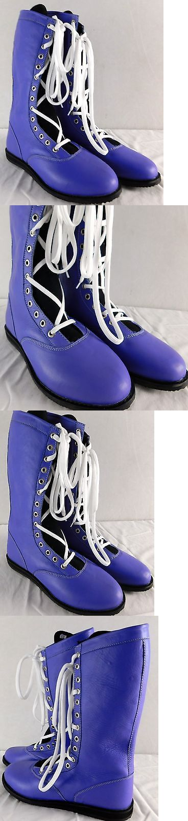 Footwear 79799: Purple Pro Wrestling Boots Size 12 Adult New Lucha Libre Gear Wwe Outfit -> BUY IT NOW ONLY: $149.99 on eBay!