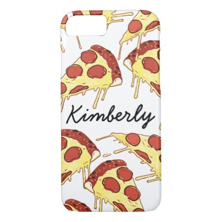 Funny colorful pizza pattern modern trend custom iPhone 7 case - tap, personalize, buy right now!