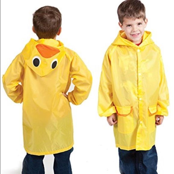 Children's raincoat! 🌦 For kids ages 5-12! Cute yellow duck raincoat. Never opened from package! Cloudnine Jackets & Coats