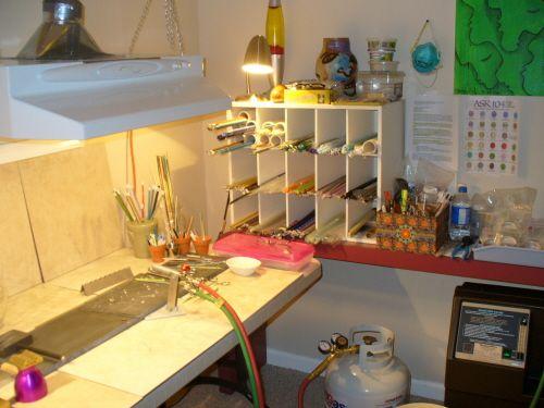 workstation setup with ventilation