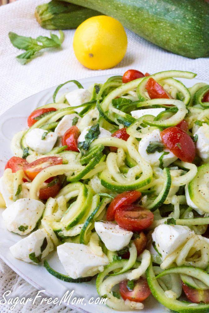 Caprese Zucchini Noodle Pasta Salad