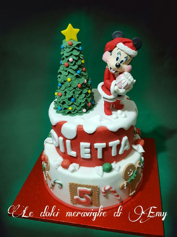 Minnie cake natalizia