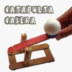 Como Hacer una Mini Catapulta Casera.