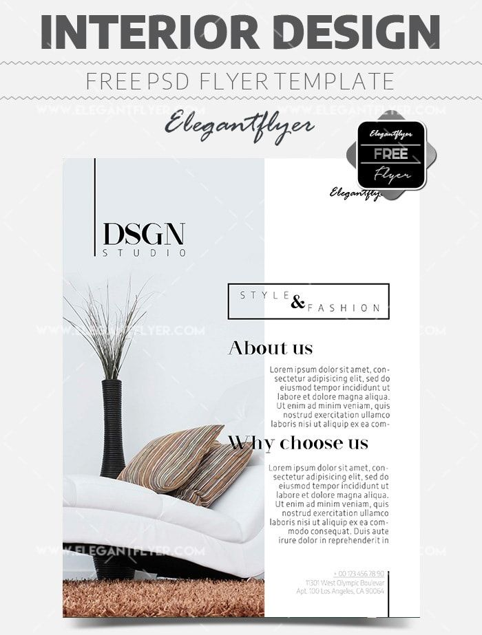 Interior Design Free Flyer Psd Template With Images Graphic