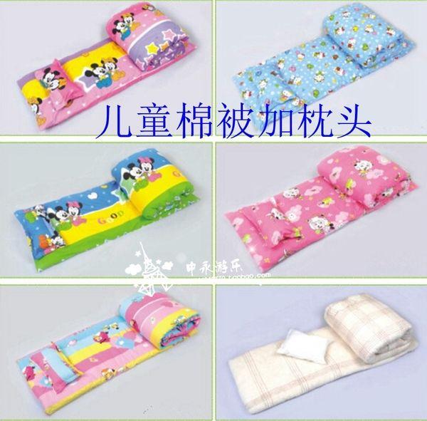 小孩被子幼兒園寶寶用品純棉兒童秋冬被小鋪蓋小狗午睡棉被和枕頭