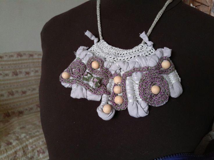 linen necklace handmade linen hit