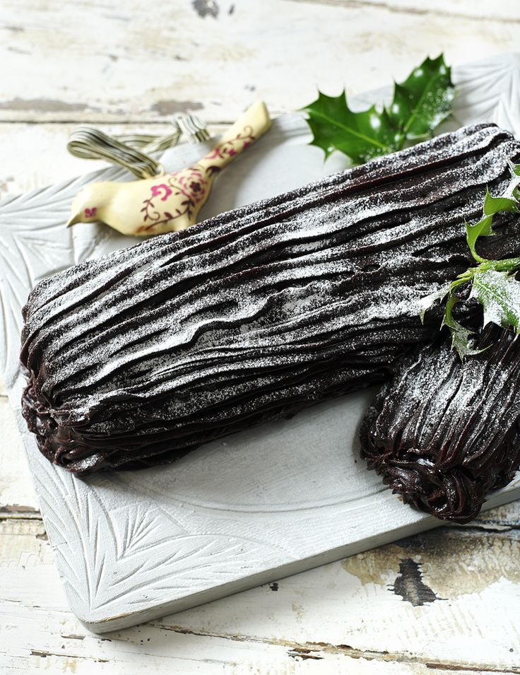 Mary's chocolatey yule log is a great alternative to fruitcakes or puddings.