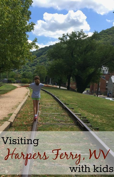 Visiting Harpers Ferry WV with kids -- a mix of history and adventure in this quaint West Virginia town is a perfect family travel destination
