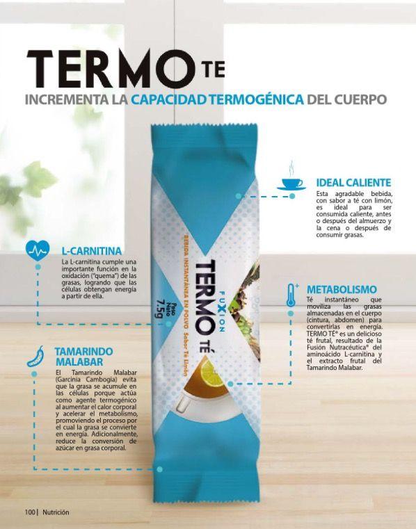 """#TermoTé de #FuXion Beneficios de su consumo – Ayuda a eliminar el tejido graso (""""quema grasa"""") de una manera natural. Eleva el nivel de energía. Ayuda en los casos de hiperlipidemia (colesterol alto).  – Estimula el metabolismo para quemar grasas almacenadas: GRASA -> ENERGIA  – Convierte el exceso de azúcar en energía a través de la """"glicólisis"""".  – Acelera la pérdida de peso y la reducción de medidas. Información y pedidos para España / Europa  Info@bebidasfuxion.es"""