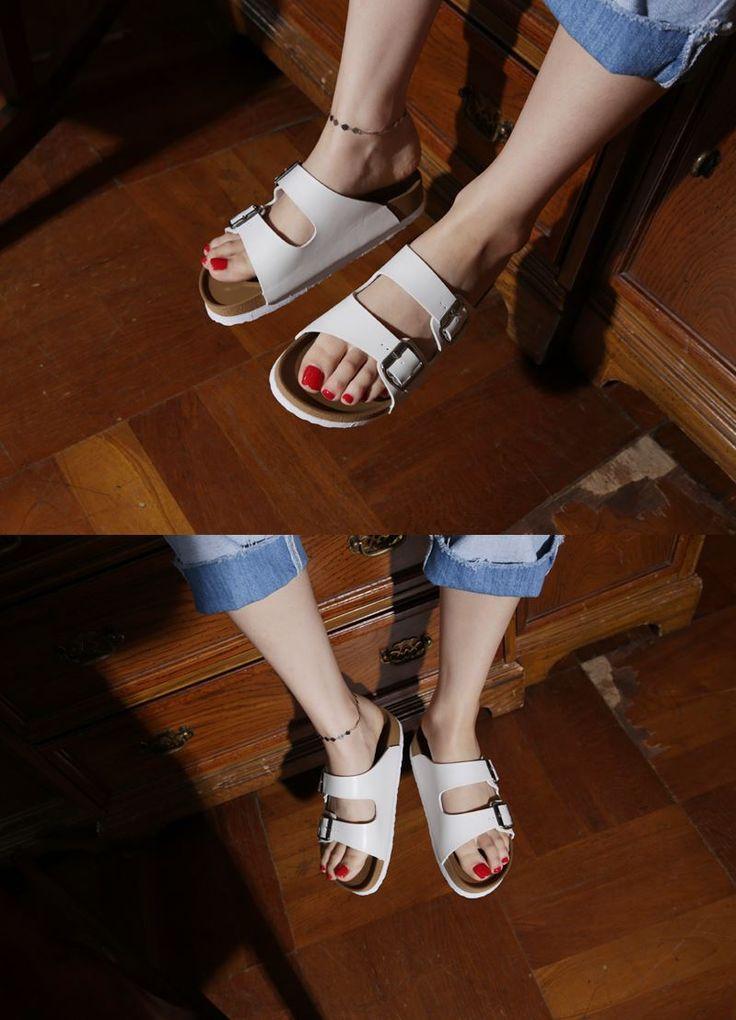 Dress Up Confidence! 66girls.us Buckled Slip-On Sandals (DHNP) #66girls #kstyle #kfashion #koreanfashion #girlsfashion #teenagegirls #younggirlsfashion #fashionablegirls #dailyoutfit #trendylook #globalshopping