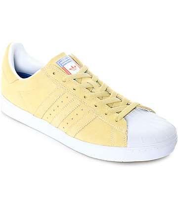 adidas Superstar Vulc ADV Pastel Yellow Shoes