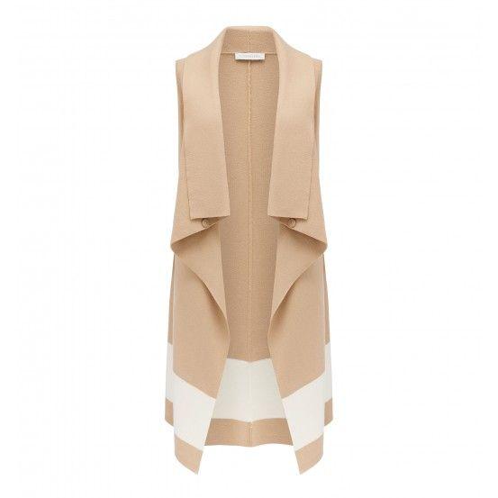 Lise Belted Colour Block Vest
