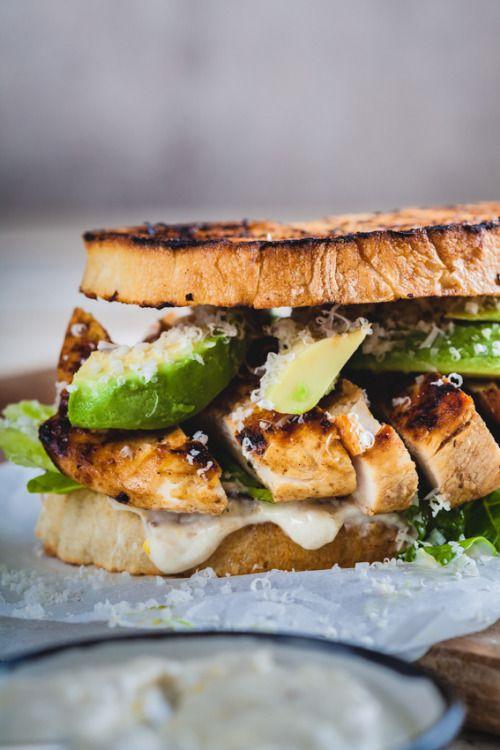 Chicken Caesar sandwichReally nice recipes. Every hour.Show me  Mein Blog: Alles rund um die Themen Genuss & Geschmack  Kochen Backen Braten Vorspeisen Hauptgerichte und Desserts # Hashtag